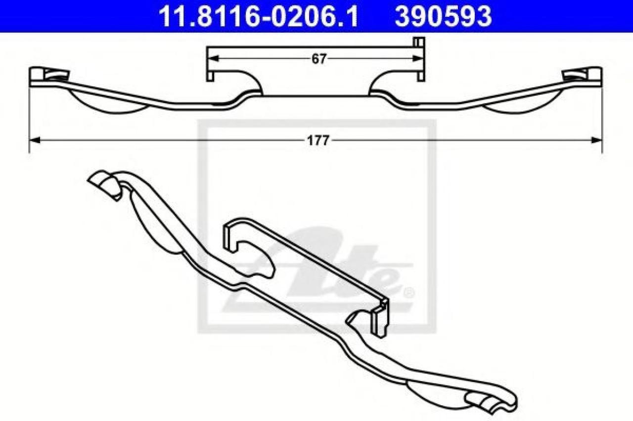 Arc, etrier frana BMW Seria 3 (E46) (1998 - 2005) ATE 11.8116-0206.1 piesa NOUA