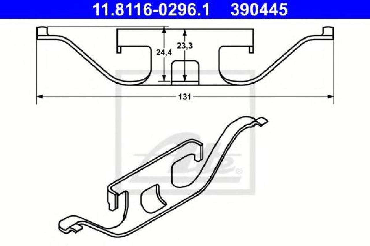 Arc, etrier frana BMW Seria 3 (E46) (1998 - 2005) ATE 11.8116-0296.1 piesa NOUA
