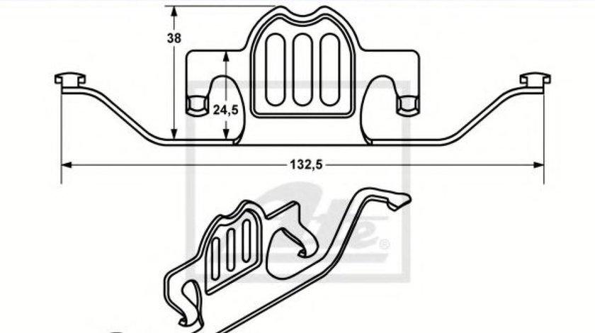 Arc, etrier frana BMW X5 (E70) (2007 - 2013) ATE 11.8116-0330.1 produs NOU