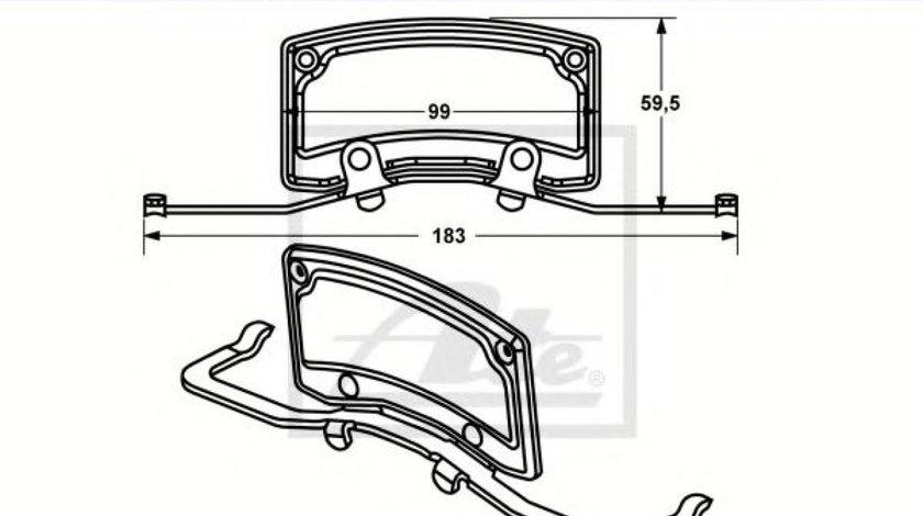 Arc, etrier frana VW PHAETON (3D) (2002 - 2016) ATE 11.8116-0347.2 produs NOU