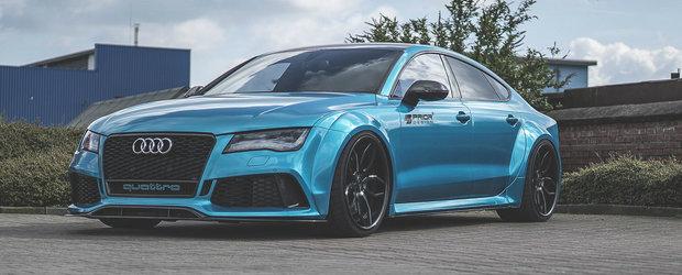 Arde soselele si seaca benzinariile. ASTA trebuie sa fie cel mai fioros Audi RS7 de pana acum