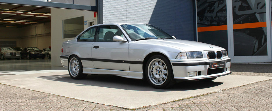 Are motorul de 3.2 litri iar bordul indica doar 46.000 de kilometri. Cat costa acest BMW M3 E36