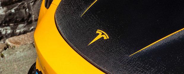 Are o companie care tuneaza Ferrari si Lamborghini dar el conduce o...TESLA. Cum arata masina electrica