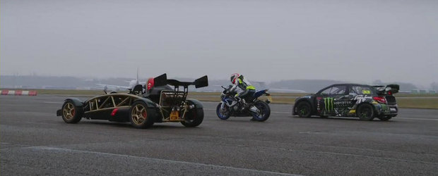 Ariel Atom V8. BMW HP4. Citroen DS3 Rallycross. DRAG RACE!