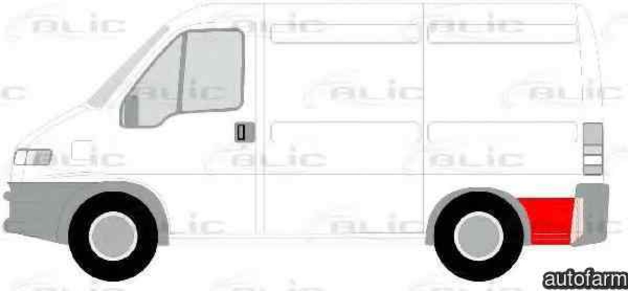 Aripa PEUGEOT BOXER platou / sasiu (ZCT_) Producator BLIC 6508-01-2092601P
