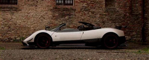 Arta pe patru roti: Pagani Zonda Cinque Roadster in actiune!