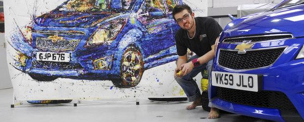 Artistul plastic detinator al unui model Chevrolet Spark este noul 'Picarso'