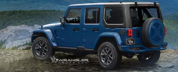 Asa ar urma sa arate noul Jeep Wrangler. Americanii pastreaza acelasi design, doar ca il slefuiesc putin