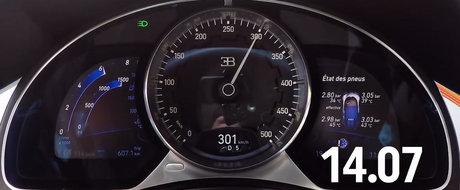 Asa arata 1500 CP in actiune: Uite cat de repede accelereaza noul Bugatti Chiron!