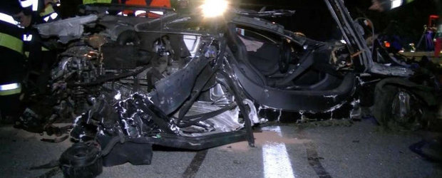ASA arata un McLaren 12C in urma unui accident la 240 km/h