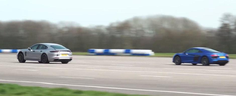 Asa ceva nu trebuia sa se intample: Sportiva cu motor V10 a pierdut la liniute in fata limuzinei de 2.3 tone!