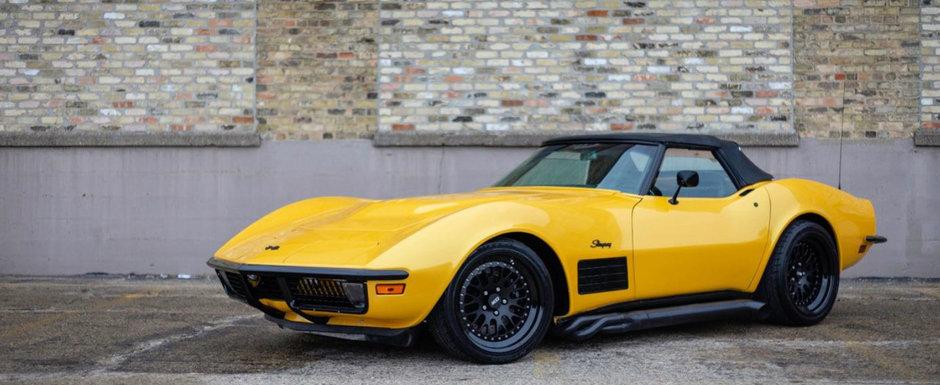 Asa Corvette nu mai gasesti. Are motor de 6.7 litri, 750 CP si culoare de Lamborghini