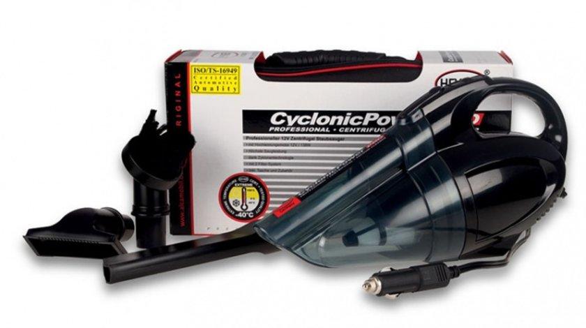 Aspirator auto Cyclo Power Heyner 12V 138W umed/uscat cu sistem dublu de flitrare cablu de 4m si accesorii PROCleaner