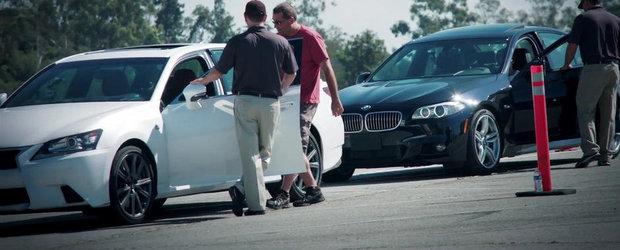 Asta da surpriza! GS F Sport invinge BMW 535i M Sport intr-un test marca Lexus