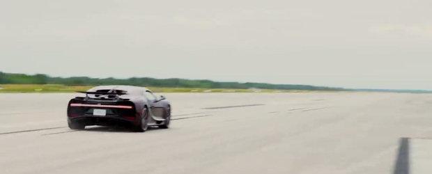 ASTA e momentul asteptat de toata lumea. VIDEO cu noul Bugatti Chiron in timp ce atinge viteza maxima