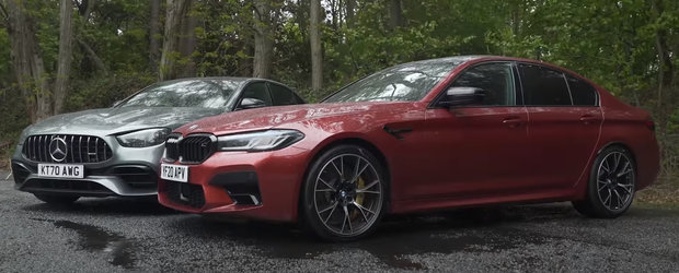 ASTA e momentul pe care il asteptam cu totii. TEST comparativ cu noul BMW M5 si Mercedes E63 AMG