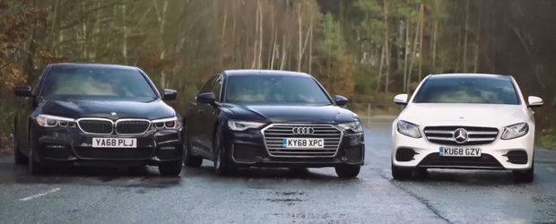 ASTA e momentul pe care il asteptam cu totii. TEST comparativ cu noul Audi A6, BMW Seria 5 si Mercedes E-Class