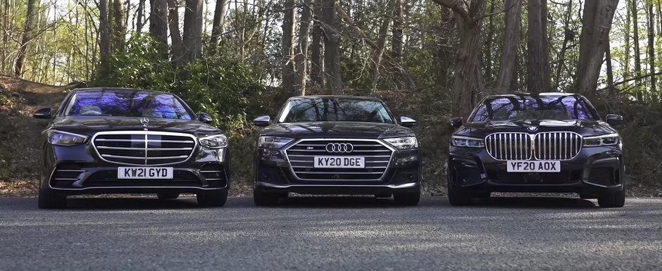 ASTA e momentul pe care il asteptam cu totii. TEST comparativ cu noul Mercedes S-Class, BMW Seria 7 si Audi A8