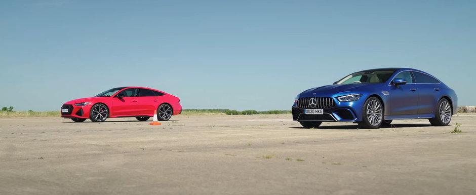 ASTA e momentul pe care il asteptam cu totii. LINIUTA cu Audi RS7 si Mercedes-AMG GT63 S
