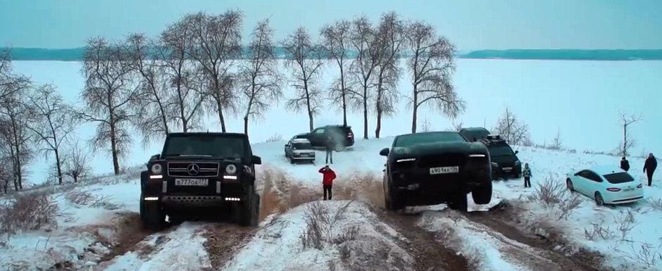 ASTA E TESTUL SUPREM: Rusii au scos pe teren accidentat cele mai populare SUV-uri si le-au dat sa zaca