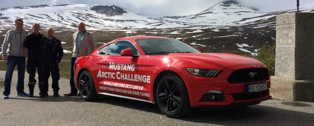 Asta este Ford-ul Mustang care consuma cat un Opel Astra. Uite cat au facut doi norvegieni cu un singur plin