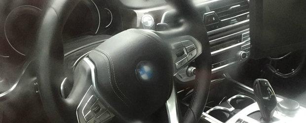 Asta este interiorul noului BMW Seria 5. Primele imagini fara niciun pic de camuflaj