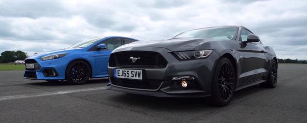"""""""Asta numiti voi diverstisment?"""" Comentariul lui Clarkson la liniuta dintre Ford-ul Mustang si Focus-ul RS"""