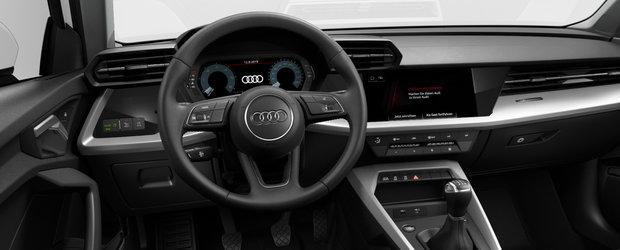 """Asta primesti daca nu platesti nimic in plus. Uite cum arata noul Audi A3 in varianta """"cheala"""""""