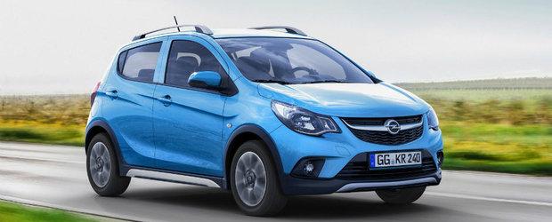 Astea sunt primele fotografe ale noului Opel Karl Rocks. Uite cum arata mini-crossover-ul si cu ce va impresiona el la Paris