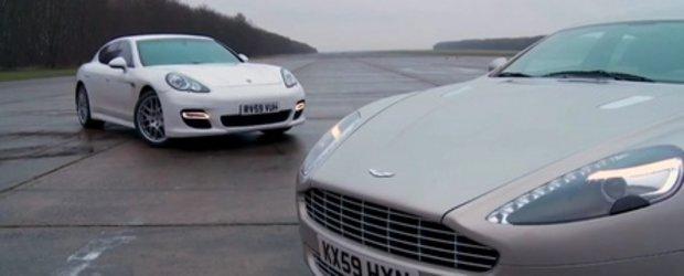 Aston Martin Rapide vs. Porsche Panamera Turbo - Frumosul sau bestia?
