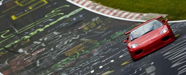 Atentie, diavol rosu! Ferrari 360 GT la Nurburgring!