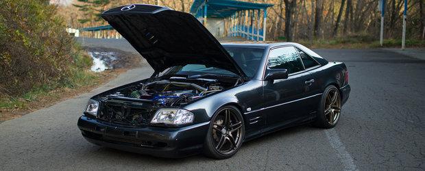 Atentie, fani ai tuningului extrem: se vinde un Mercedes SL cu motorizarea 2JZ!
