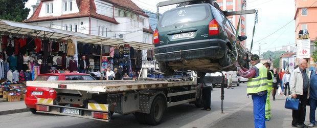 ATENTIE SOFERI! De azi se ridica masinile care stationeaza unde nu trebuie!