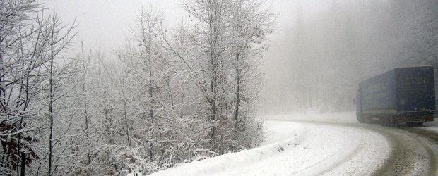 Atentie, soferi! Pe Transfagarasan se circula in conditii de iarna