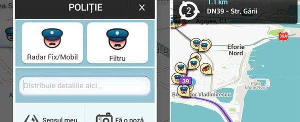 Atentie, soferi! Politia Rutiera raporteaza gresit pe Waze ca sa-i amendeze pe soferi