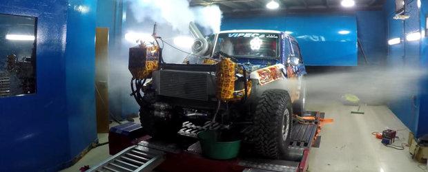 Atunci cand 1500 cp se dovedesc prea multi: un motor adus la reglat explodeaza ca o fantana arteziana