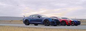 Au adus la start cele mai puternice muscle car-uri ale momentului. Liniuta cu Shelby GT500, Camaro ZL1 1LE si Challenger Hellcat Redeye