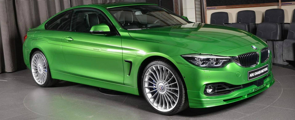 Au cele mai frumoase jucarii pentru oameni mari. BMW Abu Dhabi gazduieste un Alpina B4 S finisat in Rallye Green
