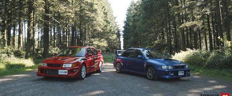 Au facut istorie in WRC iar acum au fost puse din nou fata in fata. Vechea lupta Subaru-Mitsubishi a fost reaprinsa