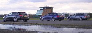 Au fost candva cele mai rapide break-uri de pe strazi. Liniuta cu Audi RS6 C6, BMW M5 E61 si Mercedes E55 AMG S211