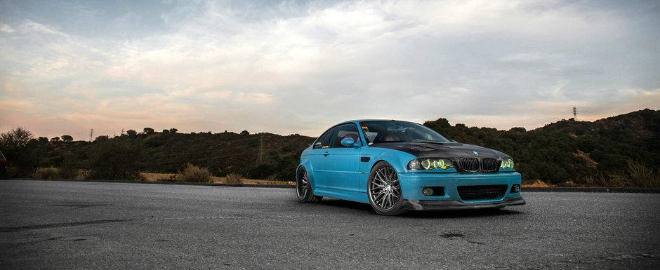 Au modificat un BMW M3 E46 ca sa anunte vremea reducerilor. POZE MULTE cu cel mai nou proiect de tuning marca Vossen