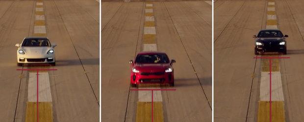 Au prins curaj si il compara cu un Porsche Panamera. Nu lipseste din test nici bavarezul BMW Seria 6