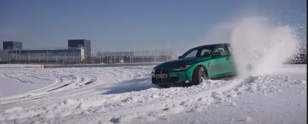Au profitat de zapada si au scos noul BMW M3 la o sesiune de drift. VIDEO cu cei 510 CP in actiune