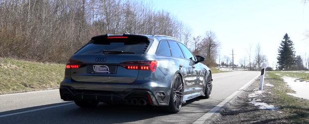 Au pus toti cei 740 CP la treaba. TEST DE ACCELERATIE cu noul Audi RS6 Avant tunat de ABT