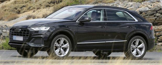 Au reusit s-o pozeze complet necamuflata. Noua masina de la Audi concureaza cu BMW X6