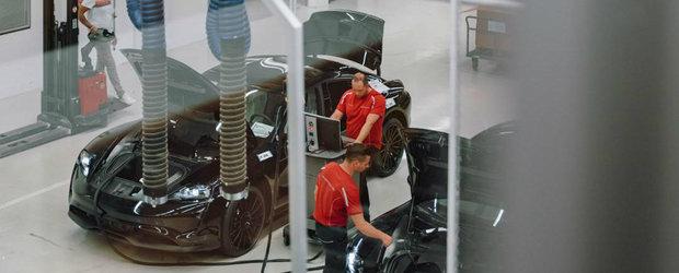 Au reusit sa o pozeze chiar in fabrica Porsche! Uite cum arata noua masina cu propulsie electrica a nemtilor