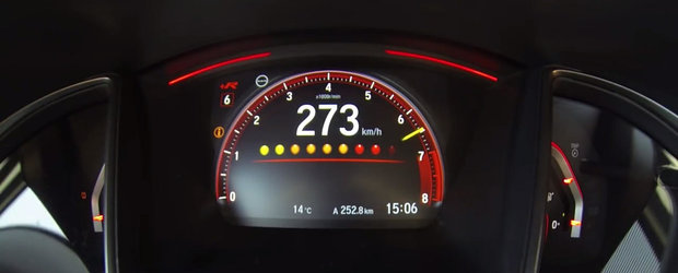 Au scos in teste noua Honda Civic Type R ca sa vada cat prinde modelul japonez cu acceleratia la podea. VIDEO
