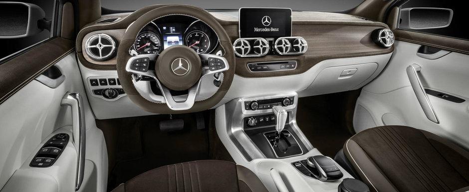 Au spart in sfarsit gheata. Mercedes publica primul teaser cu noul sau pick-up premium
