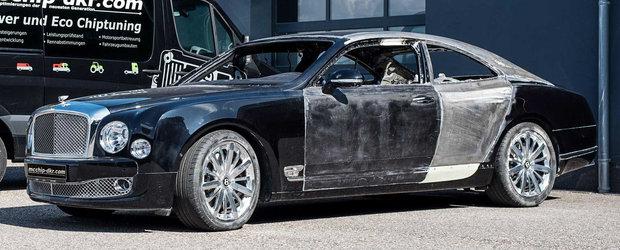 Au taiat si sudat la o limuzina Bentley pana au transformat-o in coupe de lux. Imaginile au facut incojurul lumii