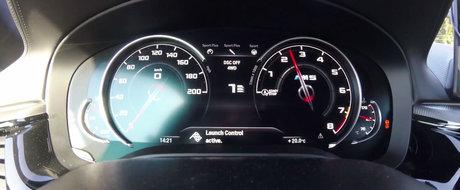 Au testat in sfarsit noul BMW M5 cu tractiune integrala. Cat a durat acceleratia de la 0 la 100 km/h